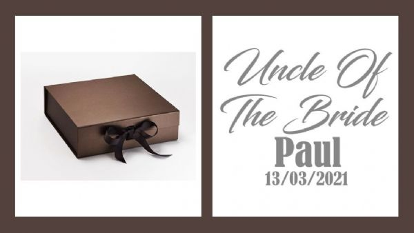 Uncle Of The Bride Large Luxury Personalised Gift Box